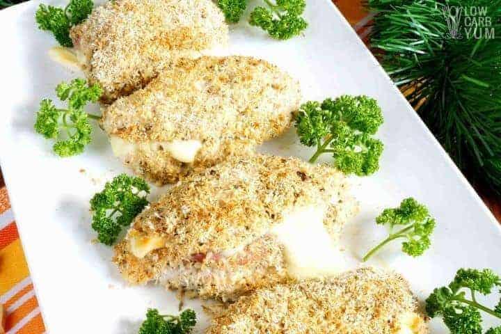 Low carb chicken cordon bleu for Christmas