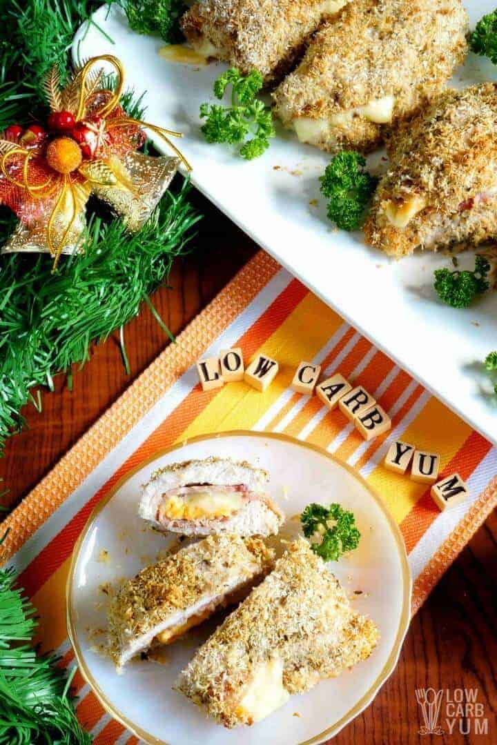 Simple low carb chicken cordon bleu