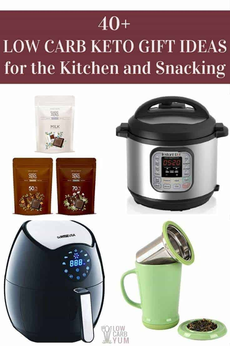 Low carb keto gifts for the kitchen and snacking