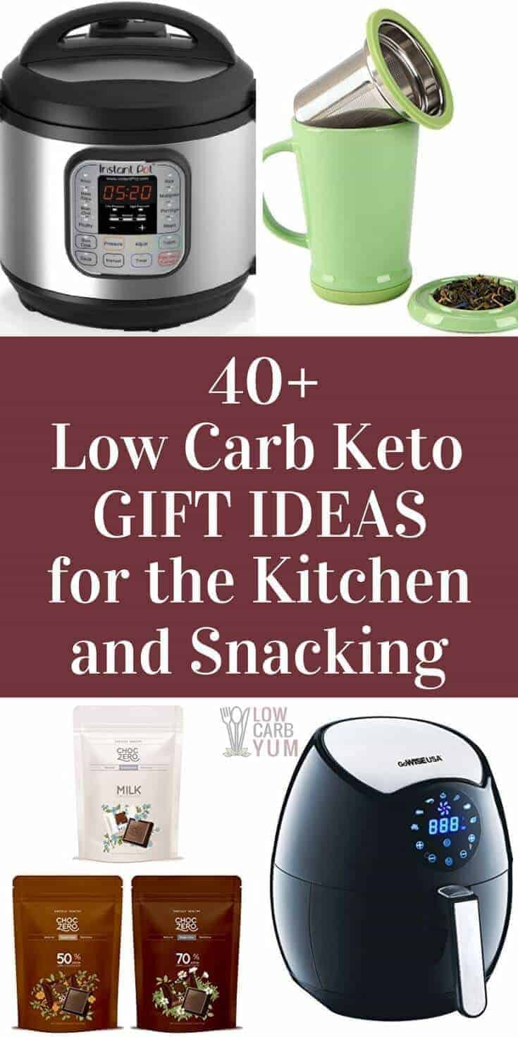 Are you looking for low carb keto gifts to give to family and friends? Take a look at our favorite picks for the kitchen and snacking.