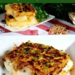 Cauliflower low carb keto grilled cheese sandwich