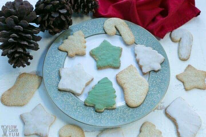 Gluten free low carb keto sugar cookies