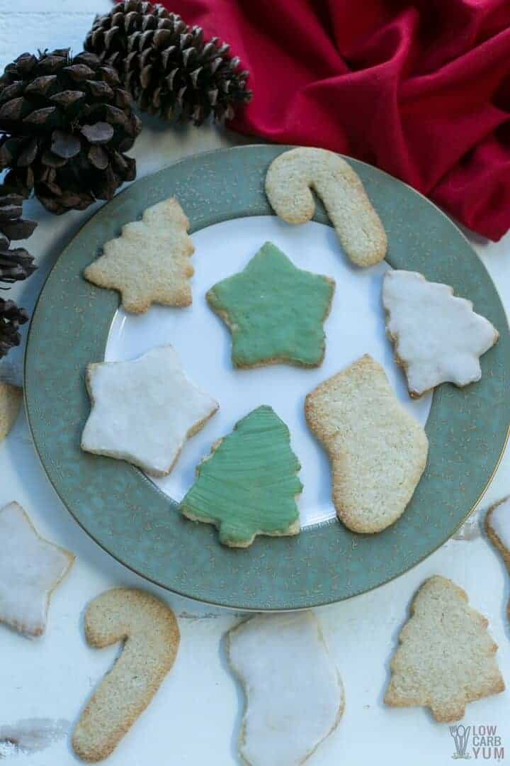 Gluten free low carb keto sugar cookies