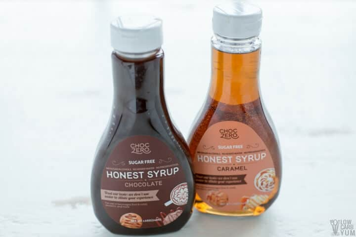 ChocZero syrup for no egg cookies