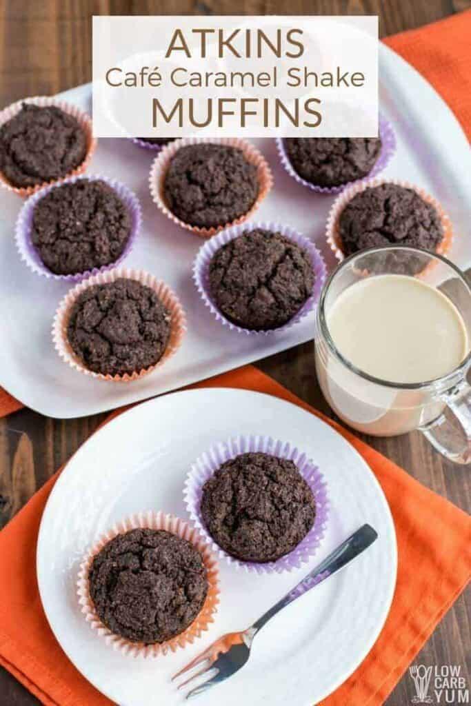 Easy Atkins Café Caramel Shake breakfast muffins