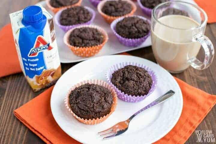 Keto Atkins Café Caramel Shake breakfast muffins