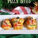 Cauliflower pizza bites in festive shapes