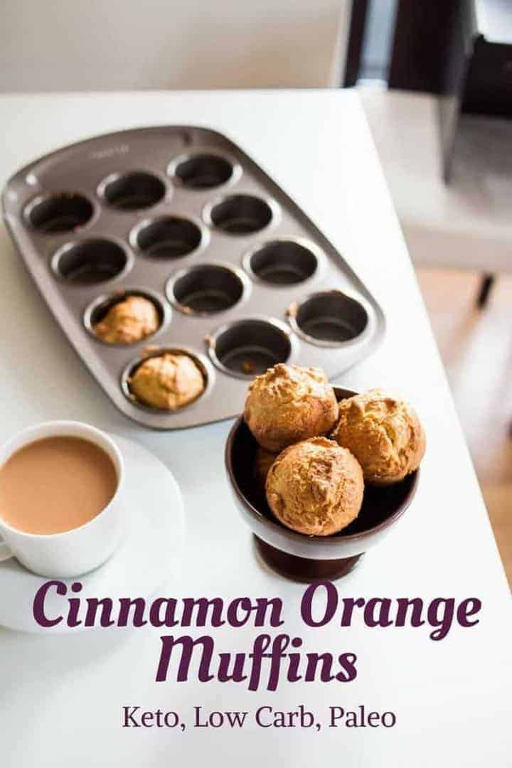 Enjoy the amazing taste of cinnamon orange while staying Keto and low carb. Enjoy these keto muffins made with almond flour for breakfast or snack. #keto #lowcarb #ketorecipe | LowCarbYum.com