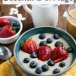 Instant Pot coconut low carb porridge recipe