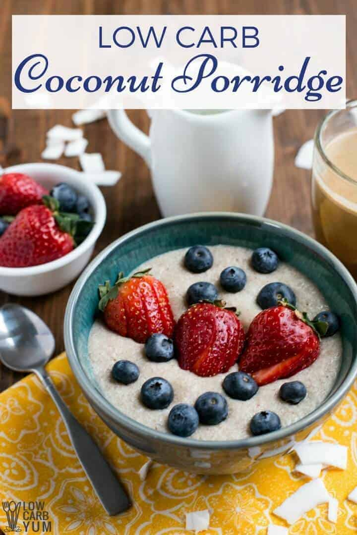 Instant Pot coconut low carb porridge recipe