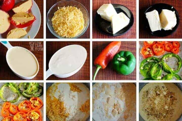 Making low carb keto cheese dip