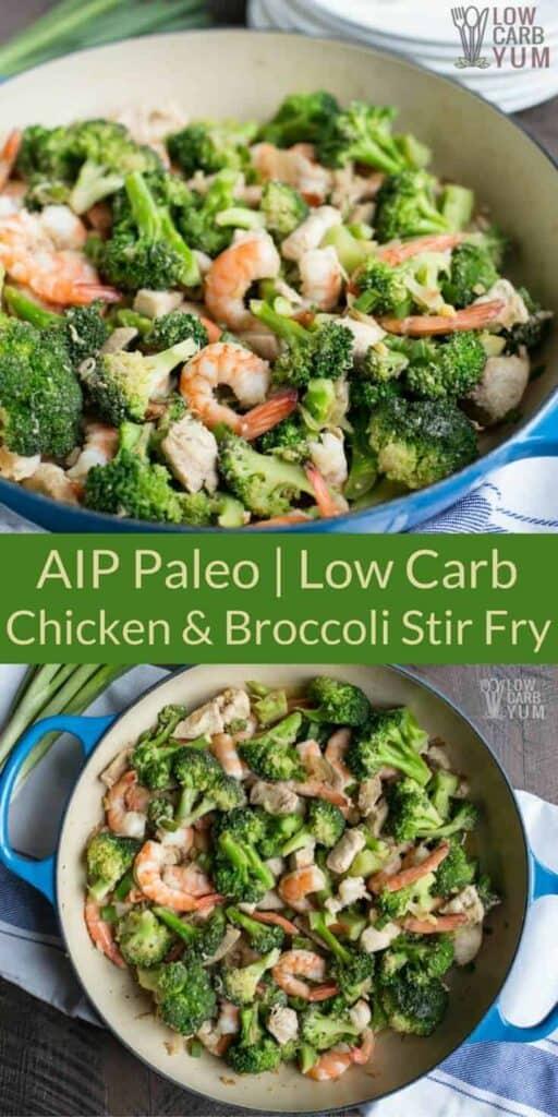 AIP Paleo chicken and shrimp stir fry recipe