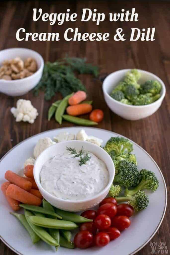 Creamy dill veggie dip with cream cheese recipe