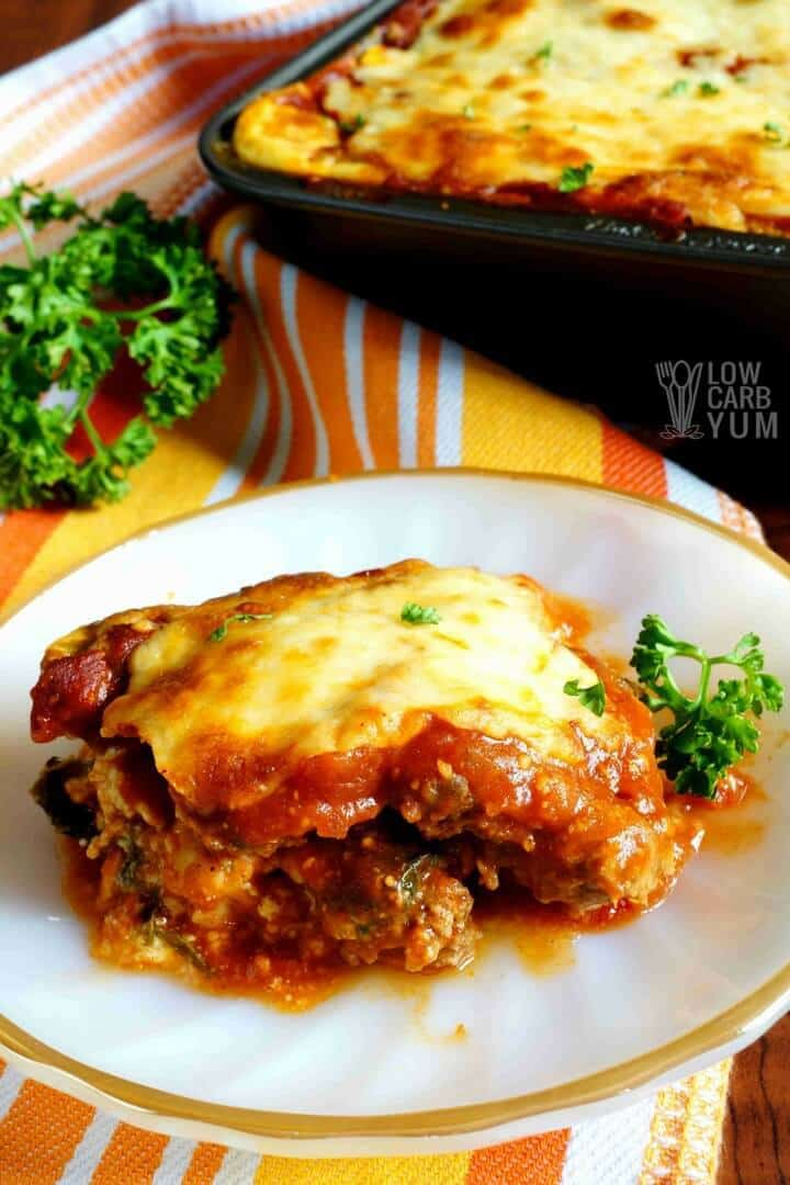Meatza low carb keto lasagna