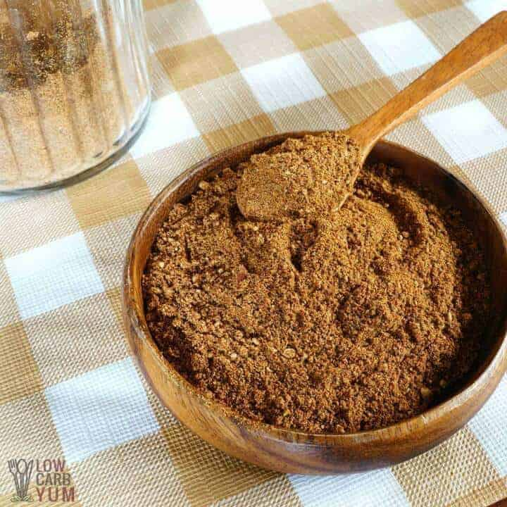keto taco seasoning in bowl