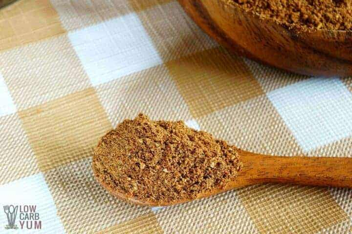 Homemade low carb taco seasoning mix
