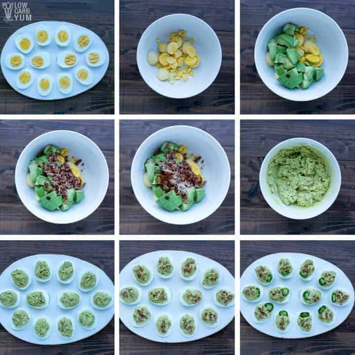 How to make spicy keto deviled eggs without mayo