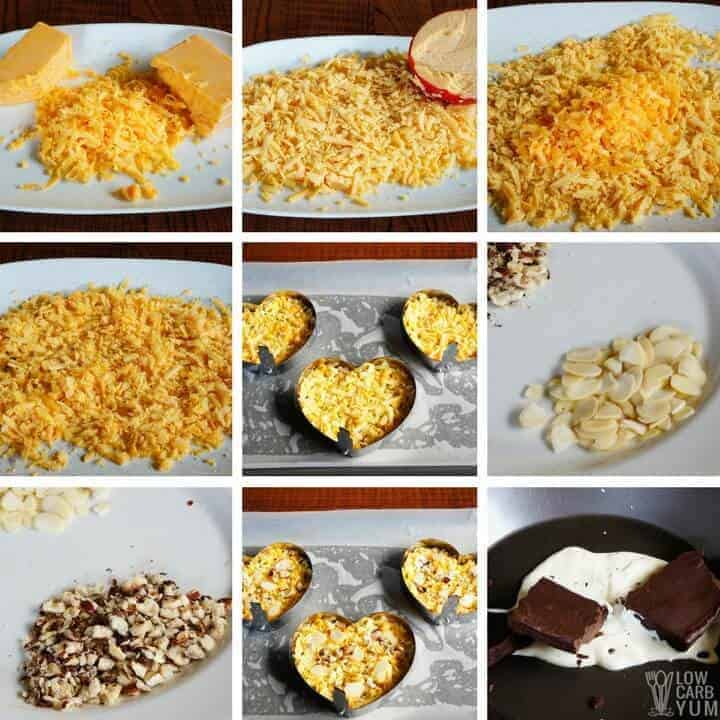 How to make the nutty low carb cheese crisps recipe
