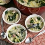 cream of turkey soup with cabbage and kale
