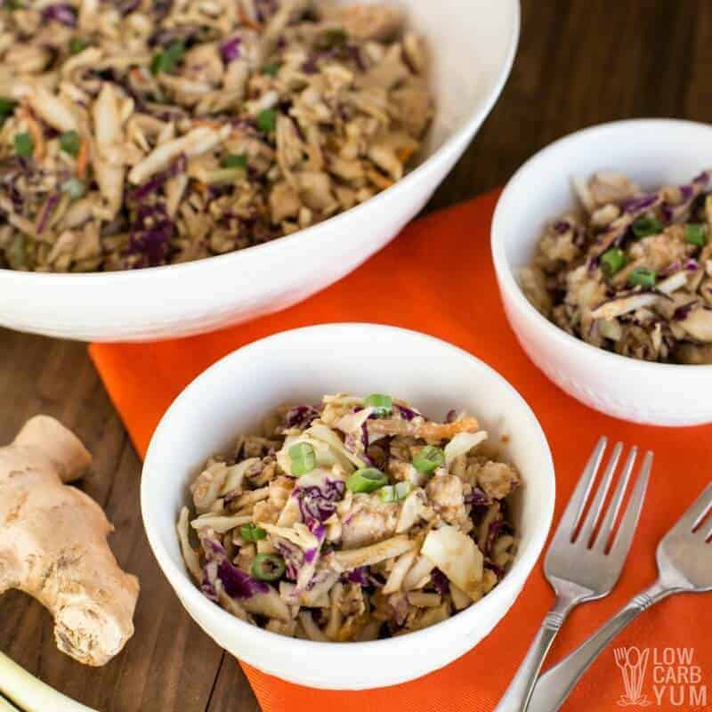 Easy Thai Chicken Salad With Canned Chicken Low Carb Yum