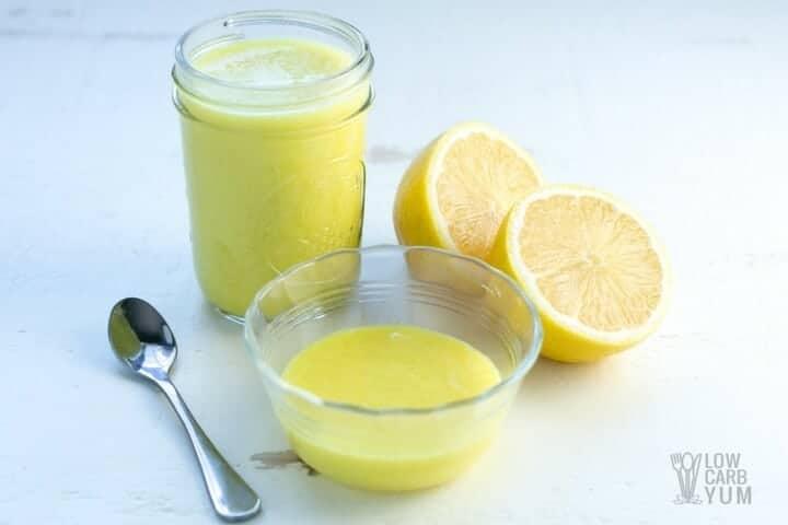 Keto vegan lemon curd