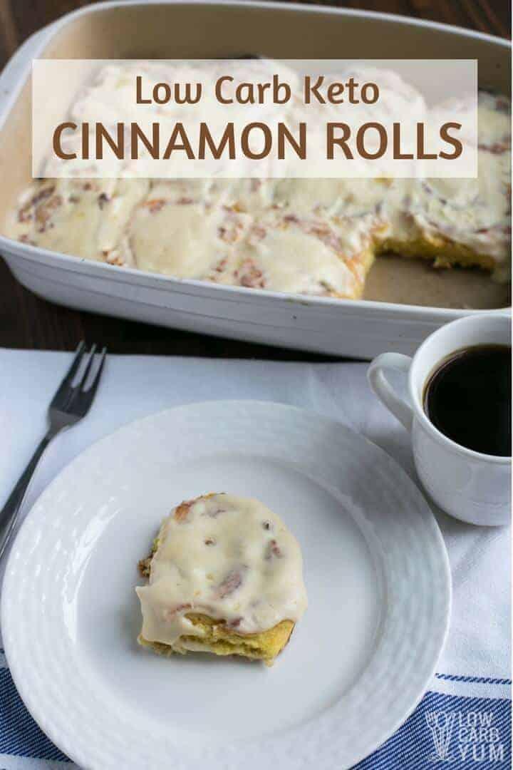 Low carb keto cinnamon rolls