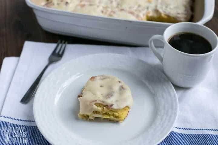 Easy low carb keto cinnamon rolls with coconut flour fathead dough