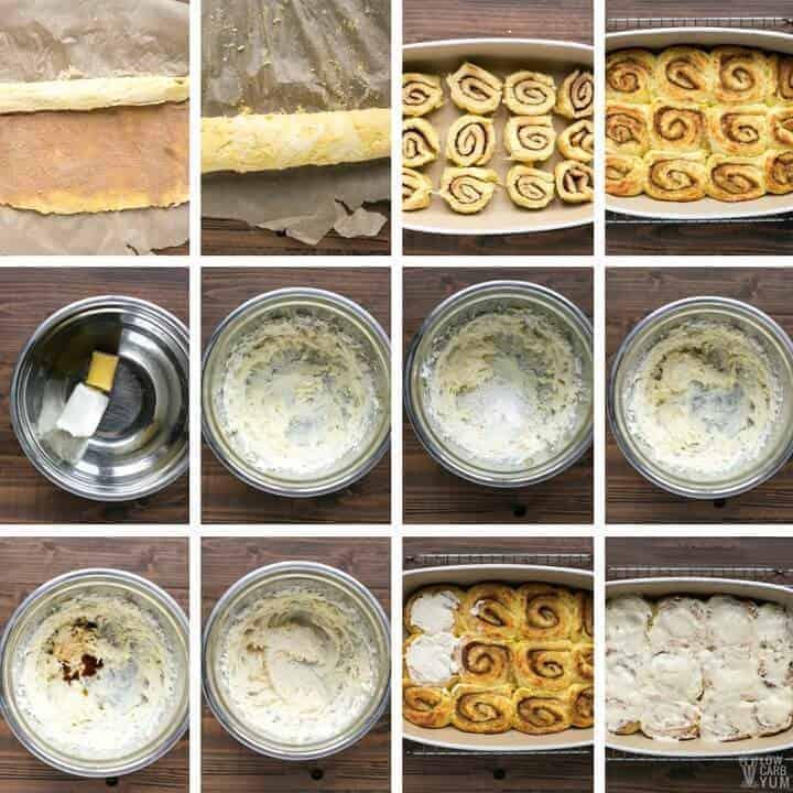 Making low carb keto cinnamon rolls