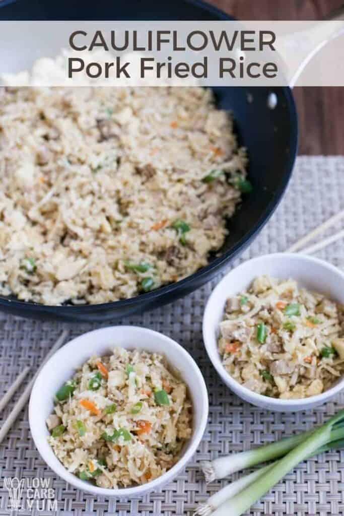 Keto Paleo Chinese cauliflower pork fried rice recipe