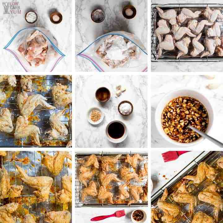 How to make easy baked teriyaki wings that are low carb.