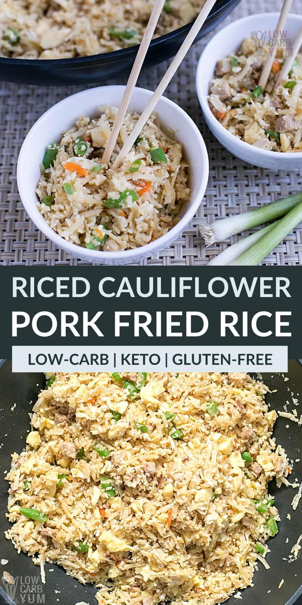 keto pork fried rice pinterest image