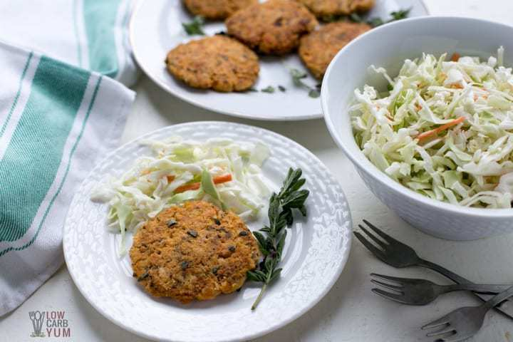 Low carb keto salmon patties