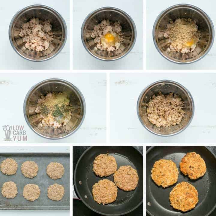 How to make low carb keto salmon patties