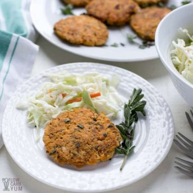 Keto Salmon Patties with Canned Meat (Low Carb, Paleo)