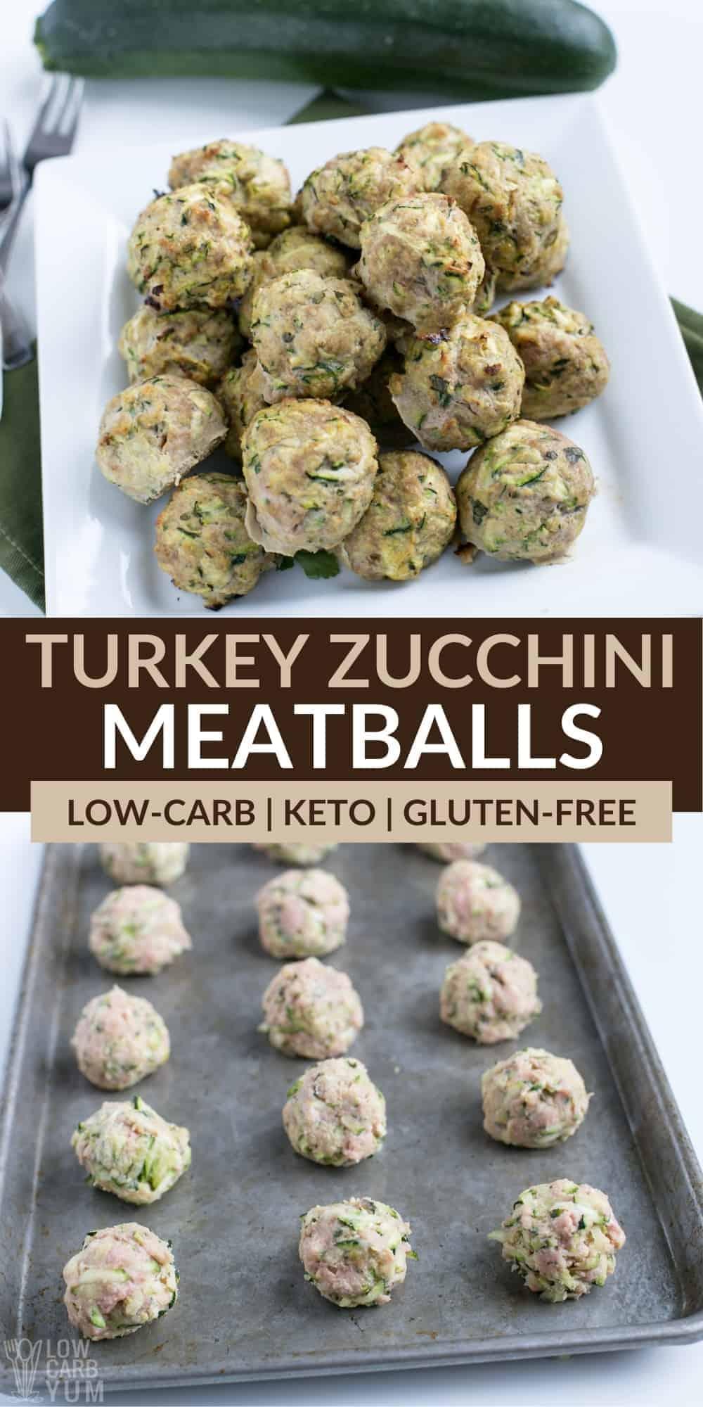 turkey zucchini meatballs pinterest image