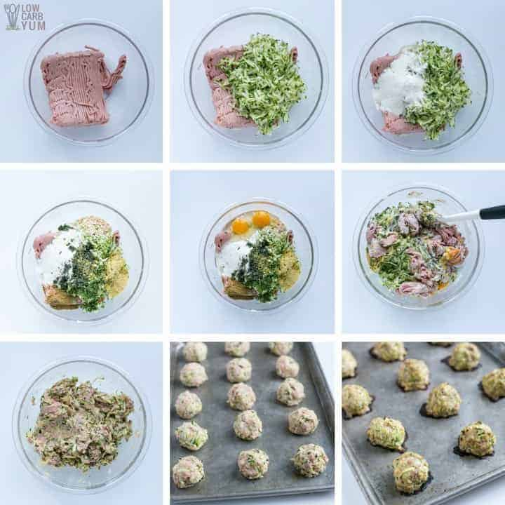 How to make baked turkey zucchini meatballs