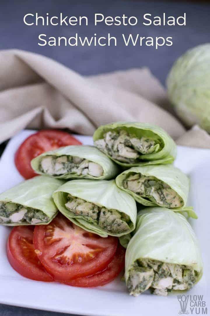 pesto chicken salad wrap recipe