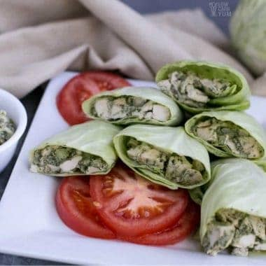 chicken pesto salad wrap