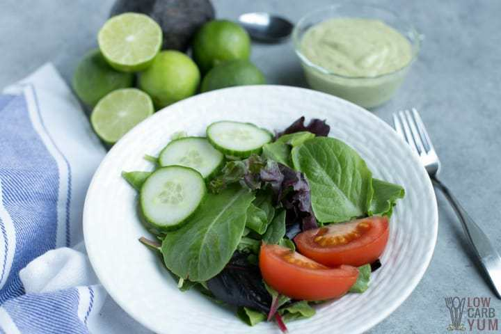 Quick dairy free avocado cilantro lime dressing recipe