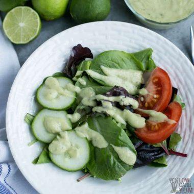 Dairy Free Avocado Cilantro Lime Dressing