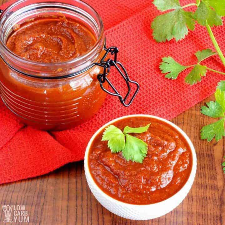 Keto friendly homemade sugar free ketchup recipe