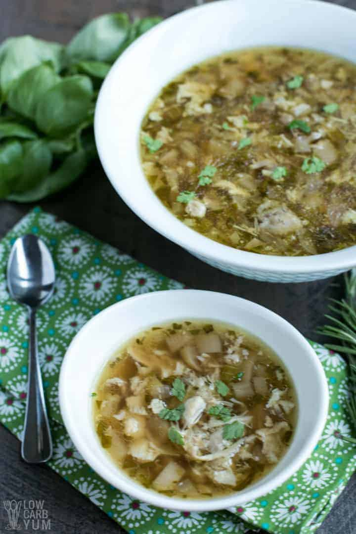 Recipe for Instant Pot chicken thighs soup