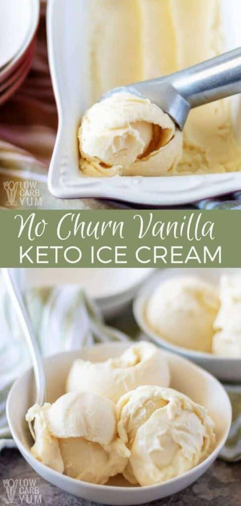 A simple vanilla no churn ice cream without condensed milk recipe