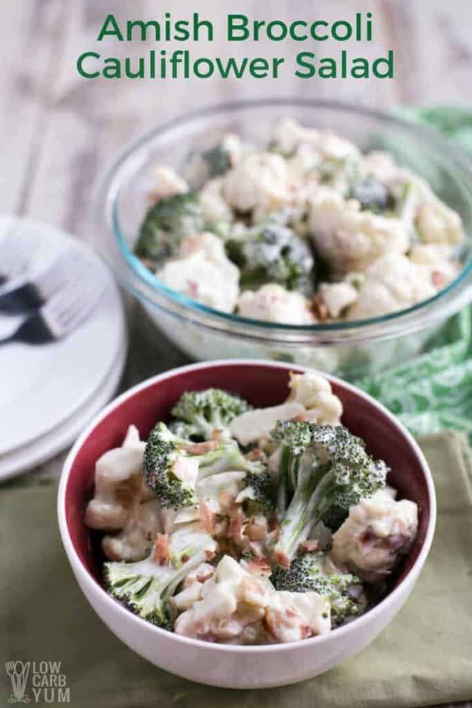 Easy Amish broccoli cauliflower salad recipe