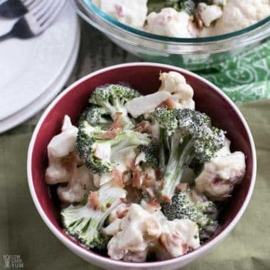 Amish Broccoli Cauliflower Salad Recipe with Bacon