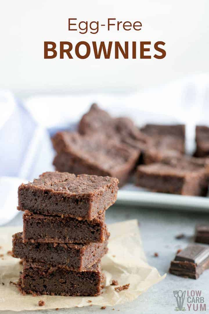 Sugar-free and gluten-free easy egg free brownies recipe