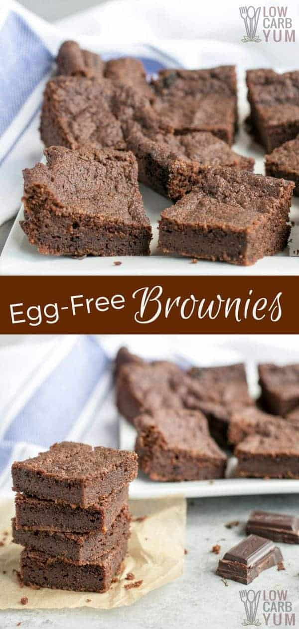 Easy egg free brownies recipe that's sugar free and gluten free and dairy free