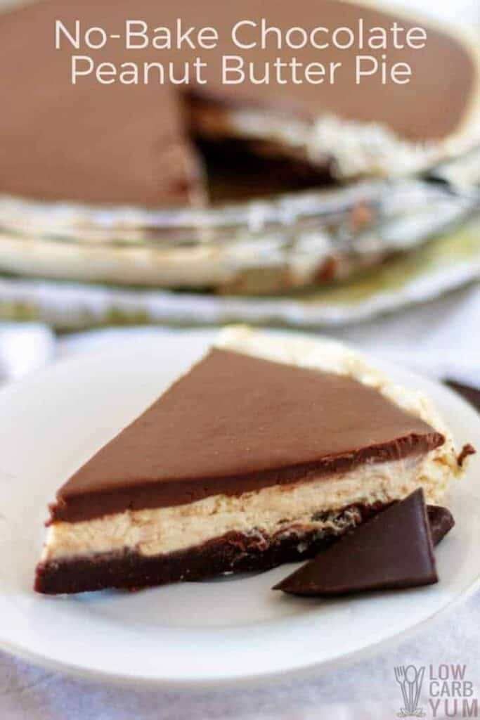 A delicious and easy no-bake chocolate peanut butter pie recipe