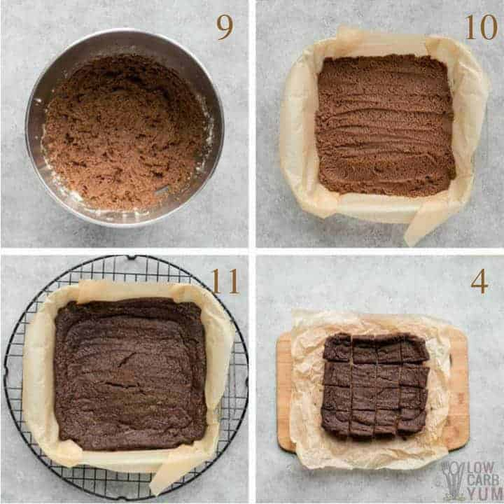 Final steps for making egg free brownies