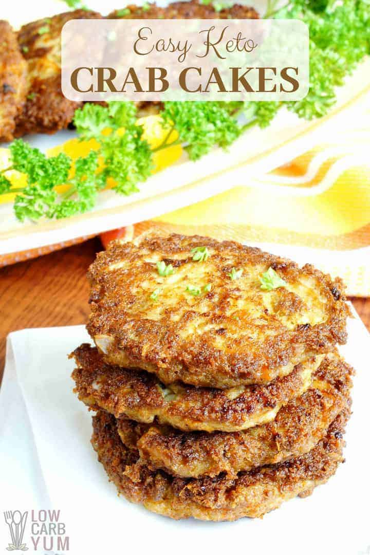 Easy keto crab cakes recipe that's low carb and paleo friendly.
